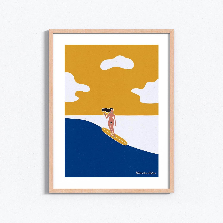 Golden Sunset - Illustration - Waves from Ceylon