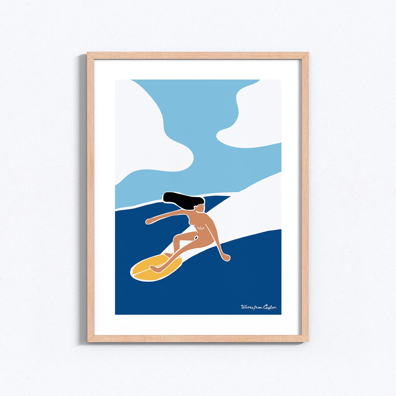 Just surfing - Illustration - Waves from Ceylon