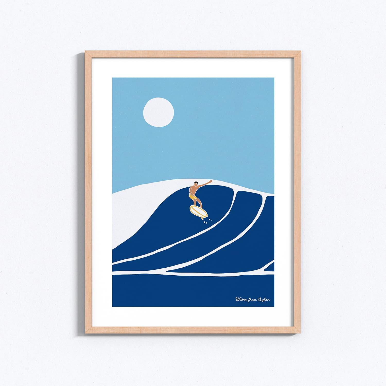Jumping big waves - Illustration - Waves from Ceylon