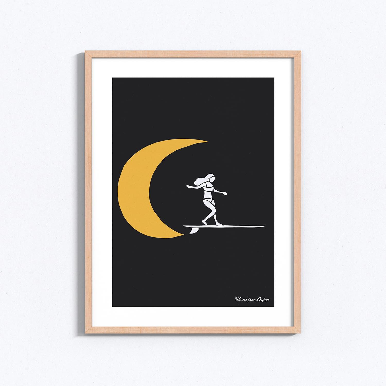 Moonlight - Illustration - Waves from Ceylon