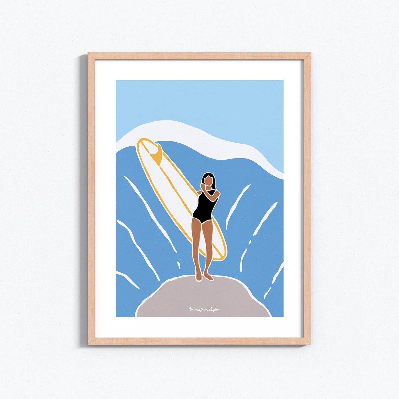 Afrodita - Illustration - Waves from Ceylon