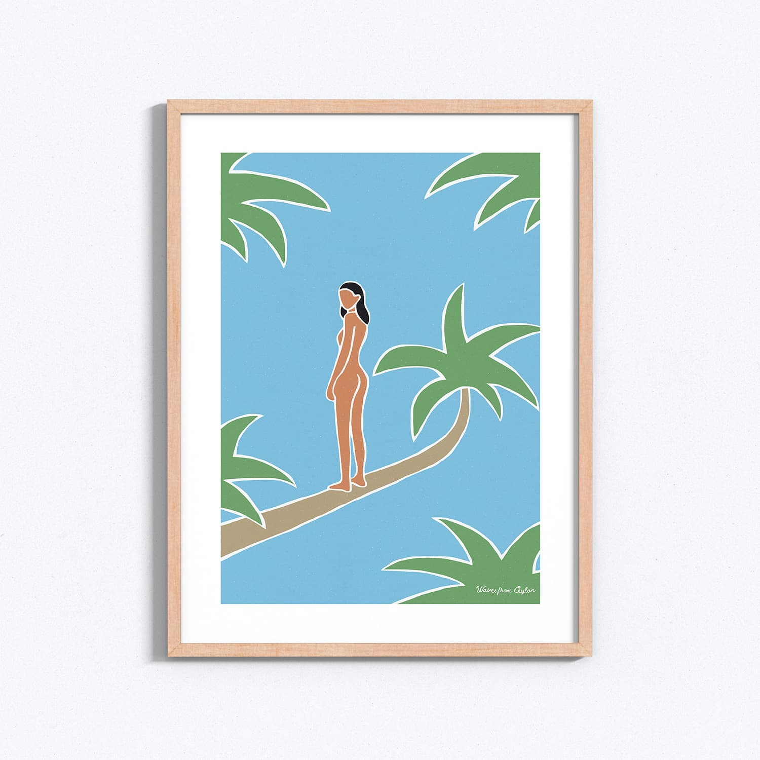 My life in the palm trees - Illustration - Waves from Ceylon